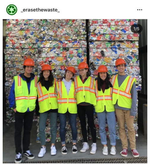Terra Linda High School students standing in front of waste facility